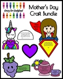 Mother's Day Craft Activity Pack: Tea, Grapes, Super Mom, Unicorn
