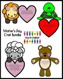 Mother's Day Craft Bundle for Kindergarten: Bear, Turtle,