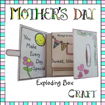Mother's Day Craft - Exploding Box