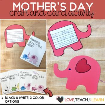 Mother's Day Card Kit : Everything's Irrelephant (English/Spanish)