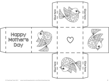 Mother's Day Craft: Mother's Day Writing Pages, Coloring and Cards