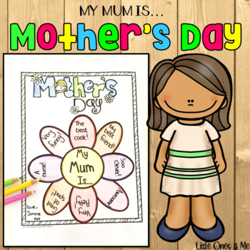 Mother S Day Craft Printable Flower Activity By Unique Ideas With Mrs S