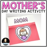 Mother's Day Craft Writing Activity   Mothers Day Gift for Mom English & Spanish