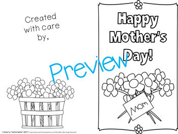 Mother's Day Card Activities Pack