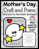 Mother's Day Craft and Poem for Kindergarten: I Love You to the Moon and Back