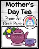 Mother's Day Tea Craft for Kindergarten: Tea-rific Mom Poem