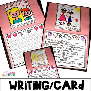 Mother's Day Card With an Inclusive Writing Template