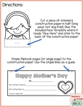 Mother's Day Craft and Writing Templates: Mom, Grandma, Aunt