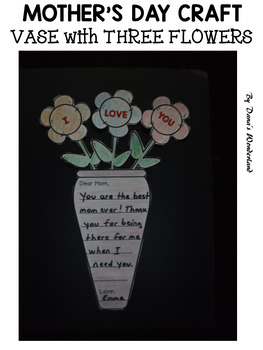 FREE Mother's Day Craft with Letter Writing