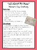 Mother's Day Craftivity: All About My Mom for 1st Grade