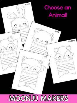 Mother's Day Craftivity -  Baby Animal Flags - Moonju Makers Activity Craft