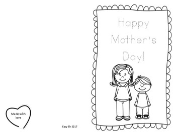 Mother's Day Craftivity Cards Freebie!