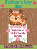 Mother's Day Craftivity - Mom & Baby Deer - Moonju Makers Activity Craft Card