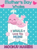 Mother's Day Craftivity - Mom & Baby Whales - Moonju Makers Activity Craft Card