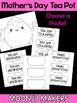 Mother's Day Craftivity -  Tea Pot Notes Moonju Makers, Craft, Activity, Writing