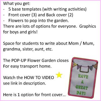 Mother's Day Crafts - POP-UP Flower Garden Craftivity