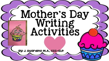 Mother's Day Crafts and Writing Activities : similes, adje