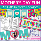 Mothers Day coloring pages, cards and decorations