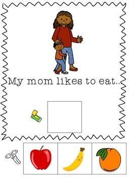 Mother's Day Cut and Paste Book-Adapted for Special Education