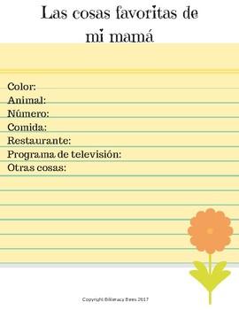 Mother's Day/Día de las Madres Spanish booklet