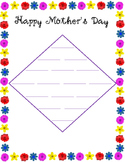 Mother's Day Diamante Poem Template