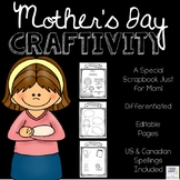 Mother's Day Differentiated Craftivity (EDITABLE)