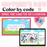 Mother's Day Digital Color by Note Slides Distance Learning Music Symbols Game