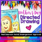 Mother's Day Directed Drawing .. Students draw themselves
