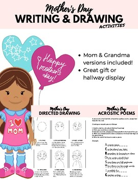 Mother's Day Directed Drawing & Writing Activities