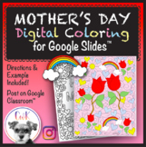 Mother's Day Distance Learning Digital Coloring Pages for