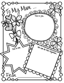 Mother's Day Activity Card - Interactive Talking and Writing FREE