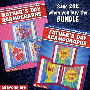 Mother's Day - Father's Day BUNDLE: 6 Agamographs (Save 20%)