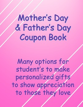 Mother's Day & Father's Day Blank Coupon Book