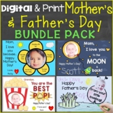 Mother's Day & Father's Day Cards Digital Ecards for Distance Learning Bundle