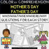 Mother's Day & Father's Day (Color by Comprehension Stories & Questions)