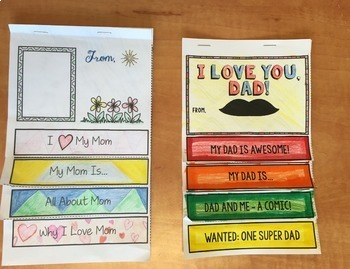 Mothers Day, Fathers Day, Flip Book BUNDLE