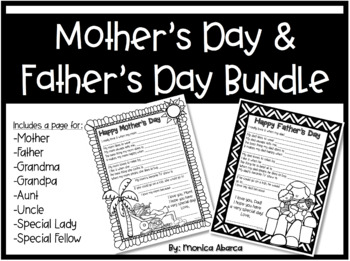 Mother's Day & Father's Day Interview Questions Bundle