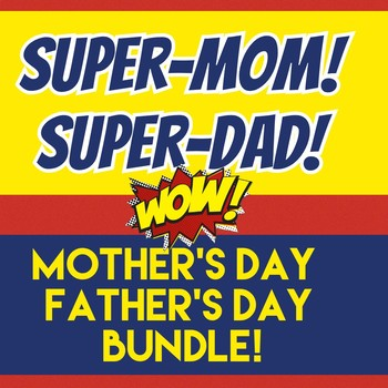 Mother's Day Gift & Father's Day Gift Combo! SUPERHERO Mom / SUPERHERO Dad
