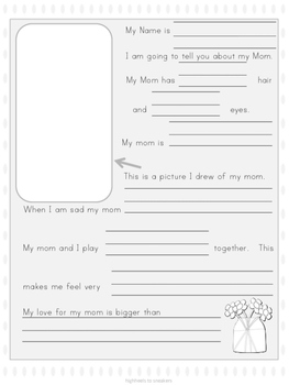 Mother's Day Fill In- Instant Mothers Day Gift