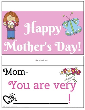Mother's Day Fill-in-the-blank Flip Book