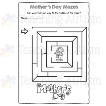 Mother's Day Mazes