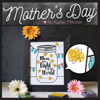 Mother's Day Finger Paint Art Activity