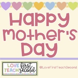 Mother's Day Flip Book, Heart Book, Worksheets (No-Prep)