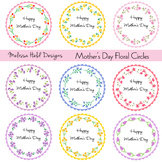 Mother's Day Floral Circle Frames