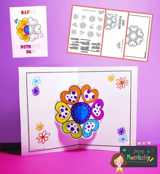 Mother's Day Flower 3D Pop Up Card