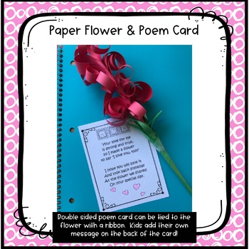 Mother's Day Flower Craft and Poem Card