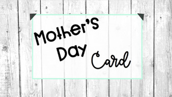 Mother's Day Flower Pen Cards