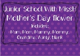 Mother's Day Flower - Sentence starter craft