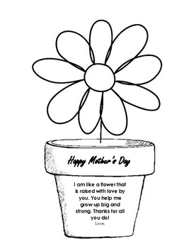 mother 39 s day flower and poem by third grade treats tpt. Black Bedroom Furniture Sets. Home Design Ideas