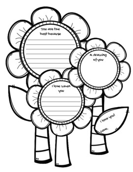 FREE Mother's Day Flowers {Easy Writing Project}